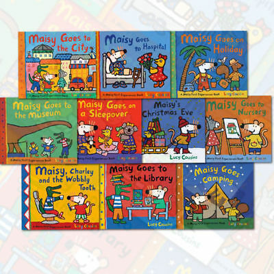 Maisy Mouse 10 books Collection: Maisy Goes to Nursery / Maisy Goes on Holiday /