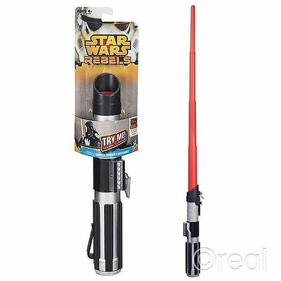 New Star Wars Red Darth Vader Extending Lightsaber Rebels Rogue One Official