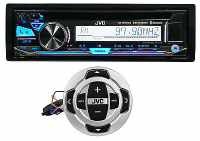 JVC KD-R97MBS Marine Boat Motorcycle Bluetooth Receiver w/Pandora+Wired Remote