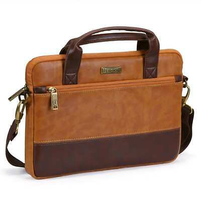 New Briefcase Leather Bag Messenger Men Handbag Laptop Pro Business Portfolio
