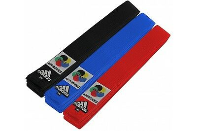 Adidas WKF Belt World Karate Federation International Comp Compliant Gi Belts