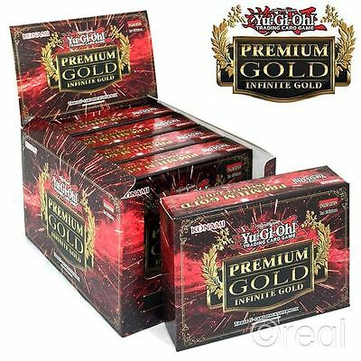 New 5 Yu-Gi-Oh! Premium Infinite Gold 3 Pack Sealed Booster Box Cards Official