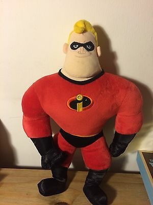 """Disney Pixar Mr Incredible Talking Soft Toy Gift 16"""" The Incredibles Authentic"""