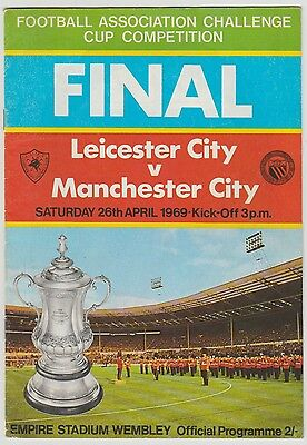 Neil Young Manchester City Rare Original Hand Signed 1969 Fa Cup Final Programme