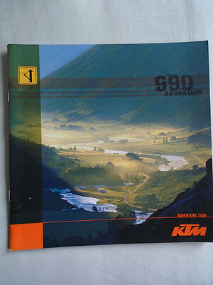 KTM 990 Adventure motorcycle brochure 2006 English text