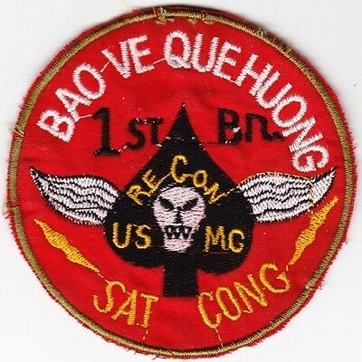 US Marine Corps 1st Recon Bn Bao Ve Que Huong Sat Cong Patch