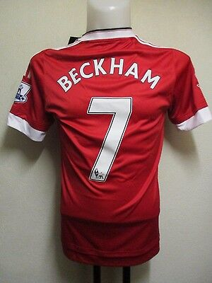 Manchester United 2015/16 S/s Home Shirt Beckham 7  By Adidas  Adults Small