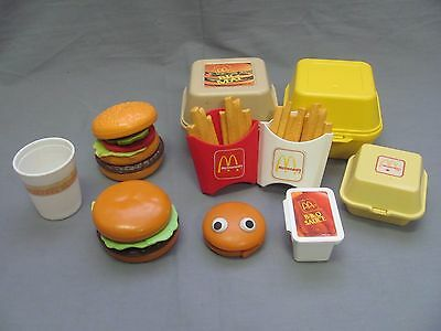 Fisher Price Fun with Food McDonalds Lot BigMac Chicken McNuggets Fries Burger