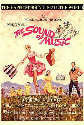 THE SOUND OF MUSIC Movie POSTER 27x40 Julie Andrews Christopher Plummer