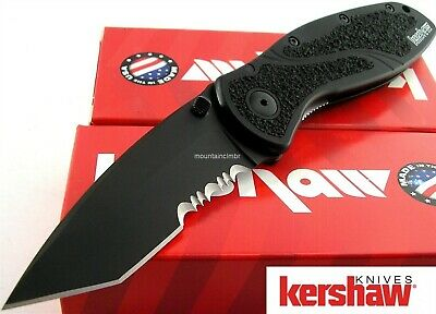 Kershaw USA Tactical Blur Black Tanto Sandvik Assisted Opening Knife 1670TBLKST