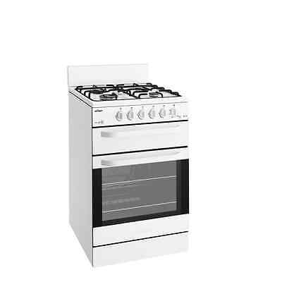 Chef CFG503WANG 54cm white Gas Cooker with Separate Grill 4 burner *natural gas
