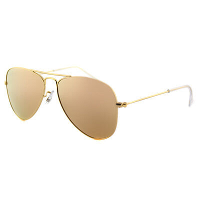 Ray-Ban Junior RJ 9506 249/2Y Matte Gold Metal Aviator Sunglasses with Gold Flas