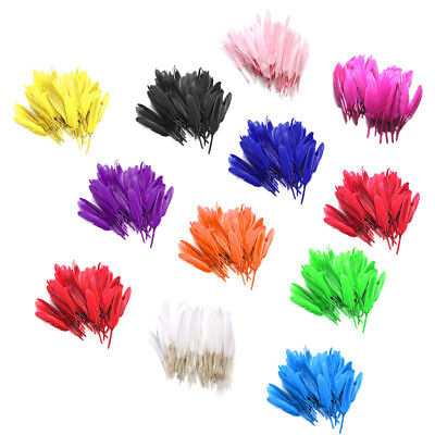 AU 100X Natural Goose Feathers 10-15cm/ 4-5inches DIY Home Craft Decor Trimmings