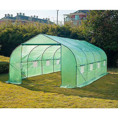 Outsunny 20' x 10' Greenhouse Tunnel Garden Grow Tent Plant Shed Portable Green