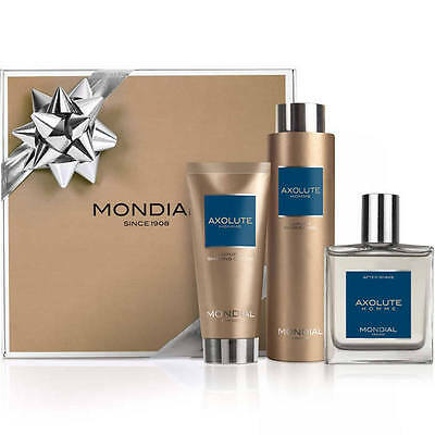 Mondial 1908 Mens Gift Pack Axolute I 3 piece Luxury Italian After Shave Shower