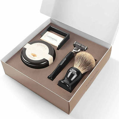Mondial Shaving Gift Pack Gibson Luxury Mens 4 Piece Razor Brush Set  Made in It