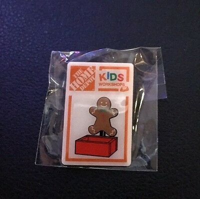 home depot collectibles kids workshop ginger bread man lapel pin