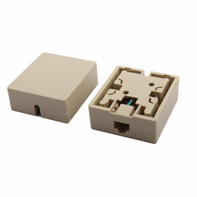 RJ45 8P8C Cat5 Ethernet Network Cord Wall Surface Mount Connector Box 2 Pcs