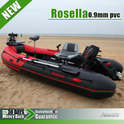 0.9 mm PVC 3.8m Inflatable Boat Fishing Boat Tender Dinghy Kayak