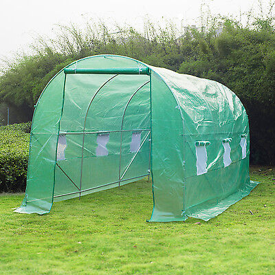 14.8' x 6.6' x 6.6' Round Walk-in Tunnel Greenhouse Plant Grow Shed Portable