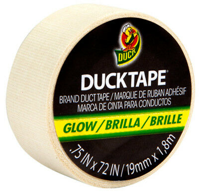 Duck Tape Brand Mini Colored Duct Tape 0.75 in x 72 in Color Glow in the Dark