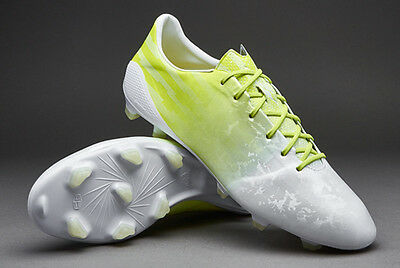 adidas F50 Adizero FG Firm Ground Mens Football Boots Hunting Series White Neon