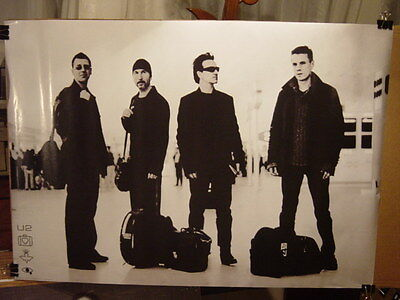 """U2 - 2001 BAND PORTRAIT PROMO ROCK POSTER 24 x 34"""" RARE OUT OF PRINT UK IMPORT"""