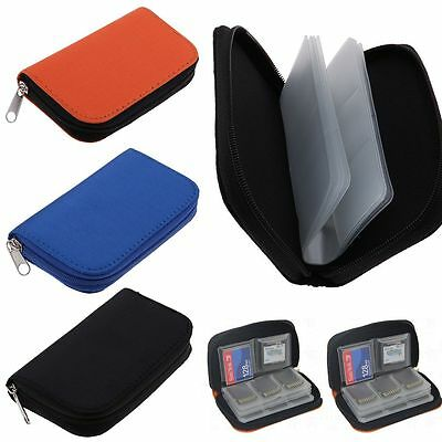 Zipper Case Storage Bag Holder Box For CF/SD/SDHC/MS/DS Various Memory Cards
