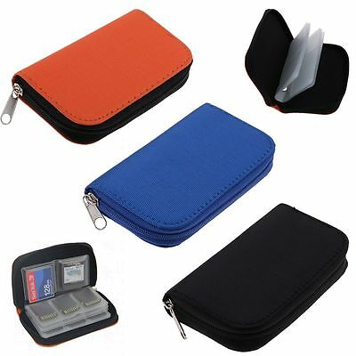 Memory Cards Storage Case Carrying Bag Holder Box For Various CF/SD/SDHC/MS/DS