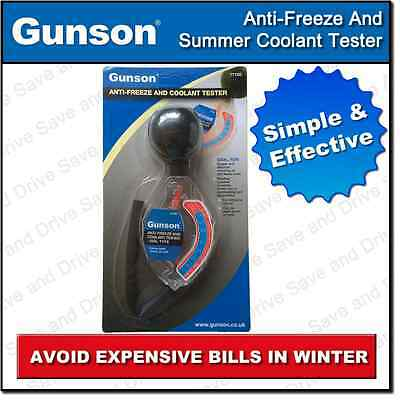 Gunson Winter Antifreeze & Summer Coolant Tester Dial Type 77105 Anti Freeze