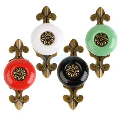 Antique Ceramic Door Cabinet Drawer Pull Handle Knob Single Hole All Colors