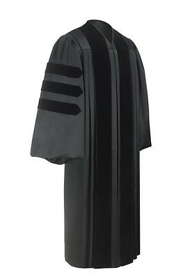 Clergy Pastor Robe – Black, Deluxe Fabric