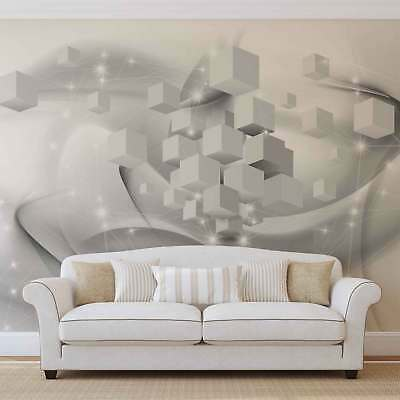 WALL MURAL PHOTO WALLPAPER XXL Grey Silver White Abstract Modern (3116WS)