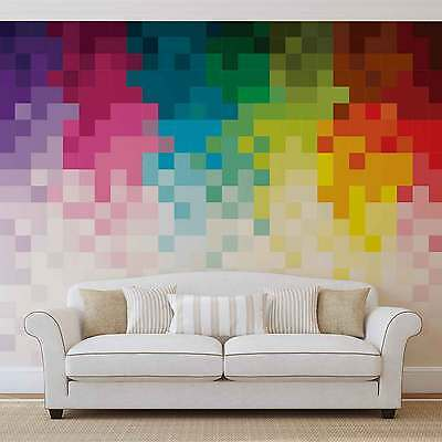 WALL MURAL PHOTO WALLPAPER XXL Rainbow Pattern Pixel (1482WS)