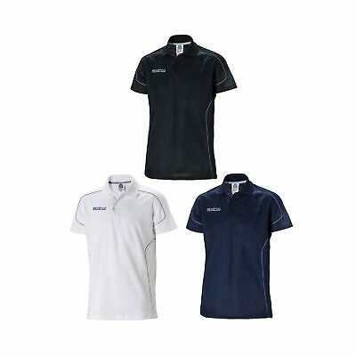 Sparco Casual Men's Motorsport/Rally Short Sleeved Cotton Polo Shirt