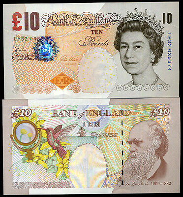 Great Britain England 10 Pounds Nd 2015 P 389 New Sign Victoria Unc