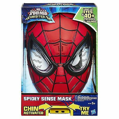 Ultimate Spiderman electronic Mask lights sounds effects Spidey Sense Sinister 6