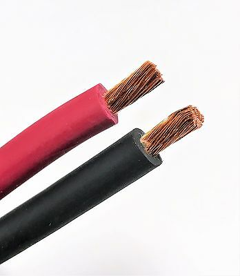 Welding Cable Red Black 8 AWG GAUGE COPPER WIRE BATTERY SOLAR LEADS USA