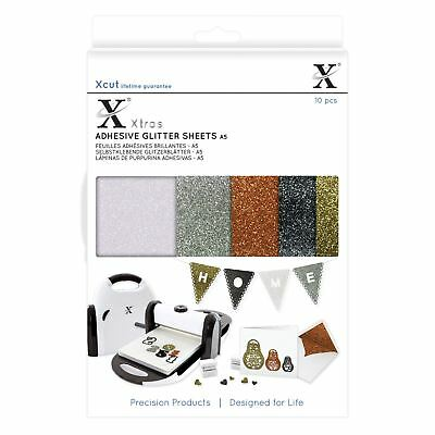 X-Cut Adhesive Glitter Sheets - Metallics 10 Sheets Die Cutting Papercrafting