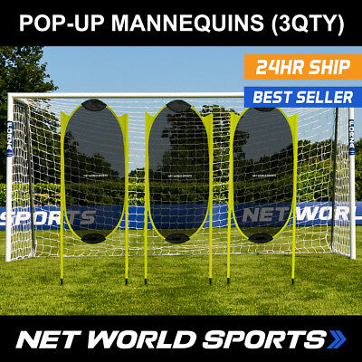 Spring Back Football Free-Kick Mannequins (Pack of 3) [Net World Sports]