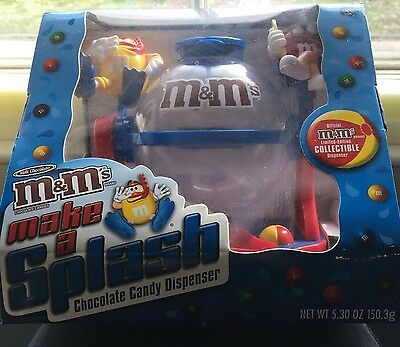 M&M's Make A Splash Chocolate Candy Dispenser New In Box
