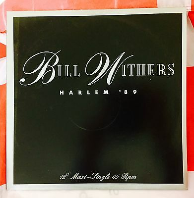 "Bill Withers Harlem 89 12"" Vinyl Record 1989 Single Live"