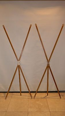 "Lot of 2 Bamboo X Banner Frames Stands 25.5"" x 71.5"" Trade Show Banner Stand"