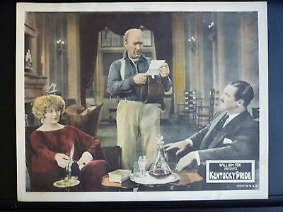 1925 Kentucky Pride - Near Mint Cond Lobby Card - John Ford Silent - Horseracing