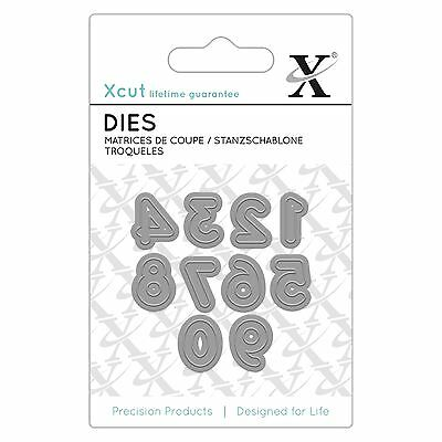 Docrafts X-Cut Mini Numbers Die - Numbers 0-9 Die Cutting Papercrafting