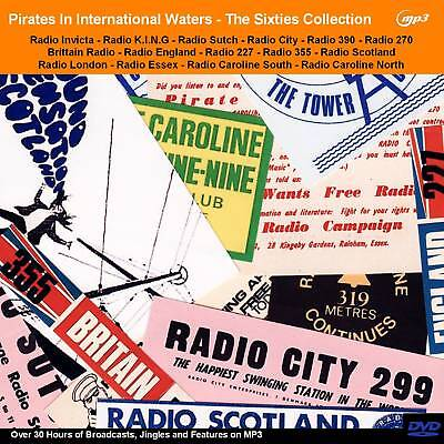 Pirate Radio The 60s Collection of Pirate Offshore Radio Broadcasts 30hrs MP3DVD
