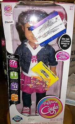 My Friend Cayla Interactive Doll Brown Hair Bluetooth Speaks English or Spanish