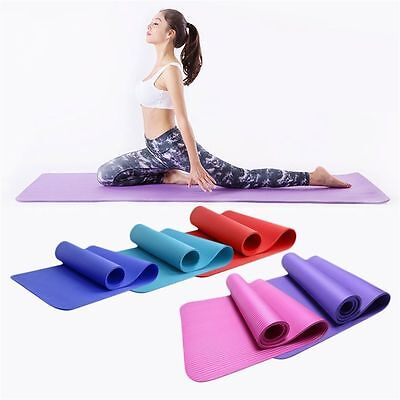 8MM/10MM Yoga Mat Thick Non-slip Cushion Exercise Gym Fitness Pilates training