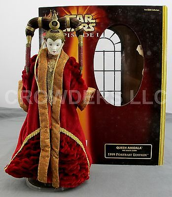 "Star Wars EP1 12"" Queen Amidala Red Senate Gown w/ Stand 1999 Portrait Edition"
