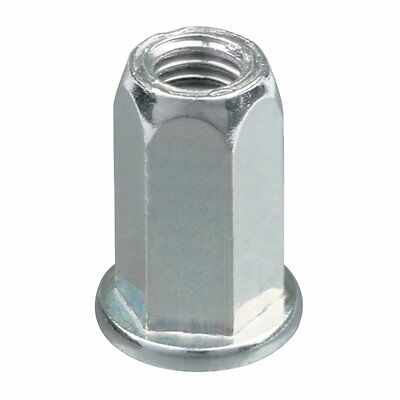 Riv Nut, Nutsert, Rivet Nut Flanged Full Hex 8Mm (100 Pieces)